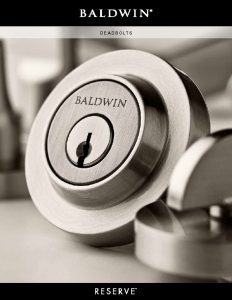 Baldwin: Reserve Deadbolts